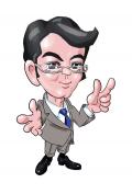 知的健康医療概念とも訳される『イアトリズム』を紹介するキャラクターの一人 Mr.ヤス の肖像