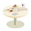 イアトリズム事典 知っておきたい『食品と栄養』の五大栄養素と食品群に登場するレストランのテーブル