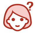 イアトリズム関連サイトに用いられるイメージアイコン『何かしらの疑問を多く抱えつつも明るく微笑む少女』