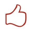 イアトリズム関連サイトに用いられるイメージアイコン『経穴(ツボ)を押す右手親指が元気に反り返る風景』