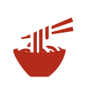 イアトリズム関連サイトに用いられるイメージアイコン『うどん・蕎麦・ひやむぎ・ソーメン・ラーメンたち』